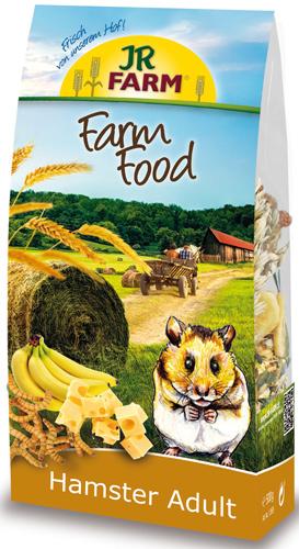 JR FARM 13655 Farm Food Adult для хомяков 500г0120710Корм Adult для взрослых животных содержит все питательные вещества, витамины и минералы. В этот корм специально так же были добавлены колосья пшеницы и мучные черви - любимое лакомство хомяков.