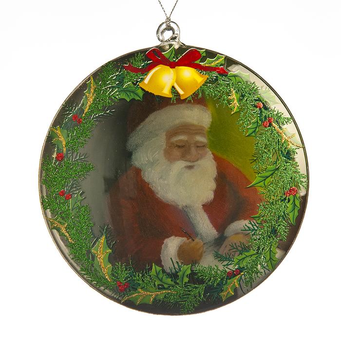 """Новогоднее подвесное украшение It's a Happy Day """"Диск"""", диаметр 12 см 66485"""
