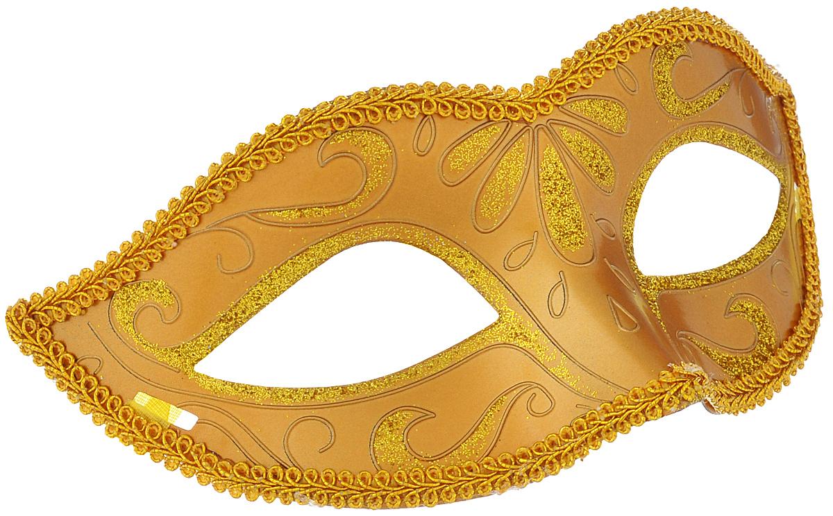 Маска карнавальная Феникс-презент Золото, цвет: золотистый38506Карнавальная маска Феникс-презент Золото, изготовленная из пластика и украшенная блестками, внесет нотку задора и веселья в праздник. Маска станет завершающим штрихом в создании праздничного образа. Изделие крепится на голове при помощи атласной ленты. В этой роскошной маске вы будете неотразимы!