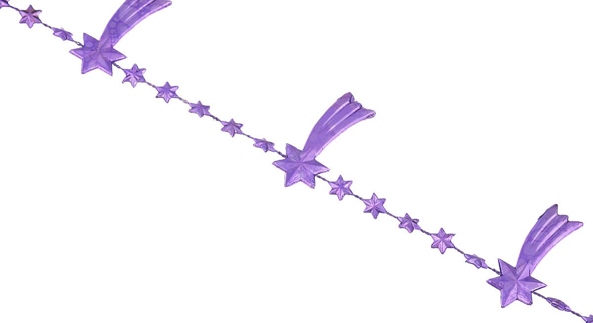 Новогодняя гирлянда Lunten Ranta Кометы, цвет: фиолетовый, длина 2 м65597Новогодняя гирлянда Lunten Ranta Кометы отлично подойдет для декорации вашего дома и новогодней ели. Изделие, выполненное из пластика, представляет собой гирлянду на текстильной нити, на которой нанизаны фигурки в виде падающих звезд. Новогодние украшения несут в себе волшебство и красоту праздника. Они помогут вам украсить дом к предстоящим праздникам и оживить интерьер по вашему вкусу. Создайте в доме атмосферу тепла, веселья и радости, украшая его всей семьей. Размер фигурки: 4 см х 1,7 см х 0,4 см.