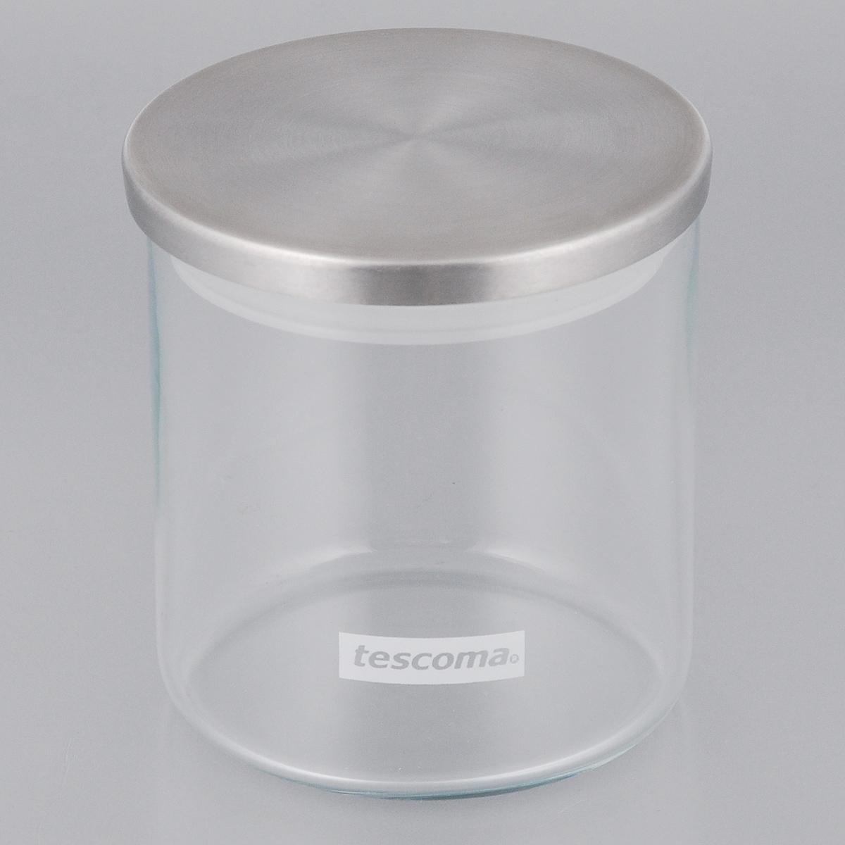 Емкость для специй Tescoma Monti, цвет: прозрачный, металлик, 0,5 л емкость для специй tescoma monti цвет прозрачный металлик 0 5 л