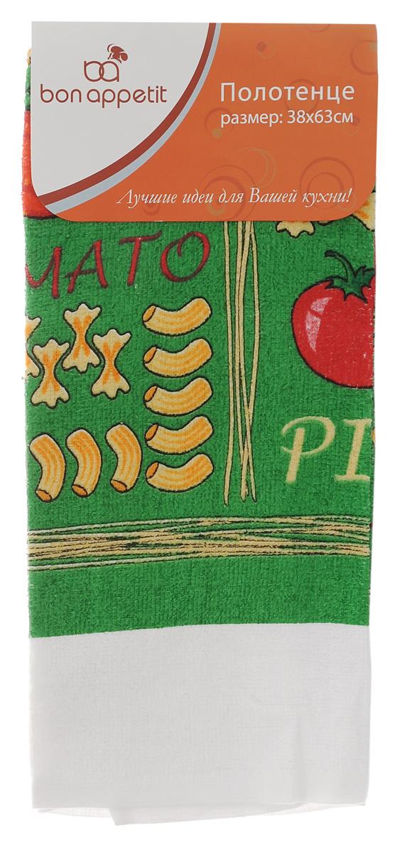 Полотенце кухонное Bon Appetit Италия, 63 х 38 см57895Полотенце кухонное Bon Appetit Италия изготовлено из 100% хлопка, поэтому является экологически чистыми. Качество материала гарантирует безопасность не только взрослых, но и самых маленьких членов семьи. Изделие украшено оригинальным и ярким рисунком, оно впишется в интерьер любой кухни. Такое полотенце станет прекрасным помощником у вас на кухне.