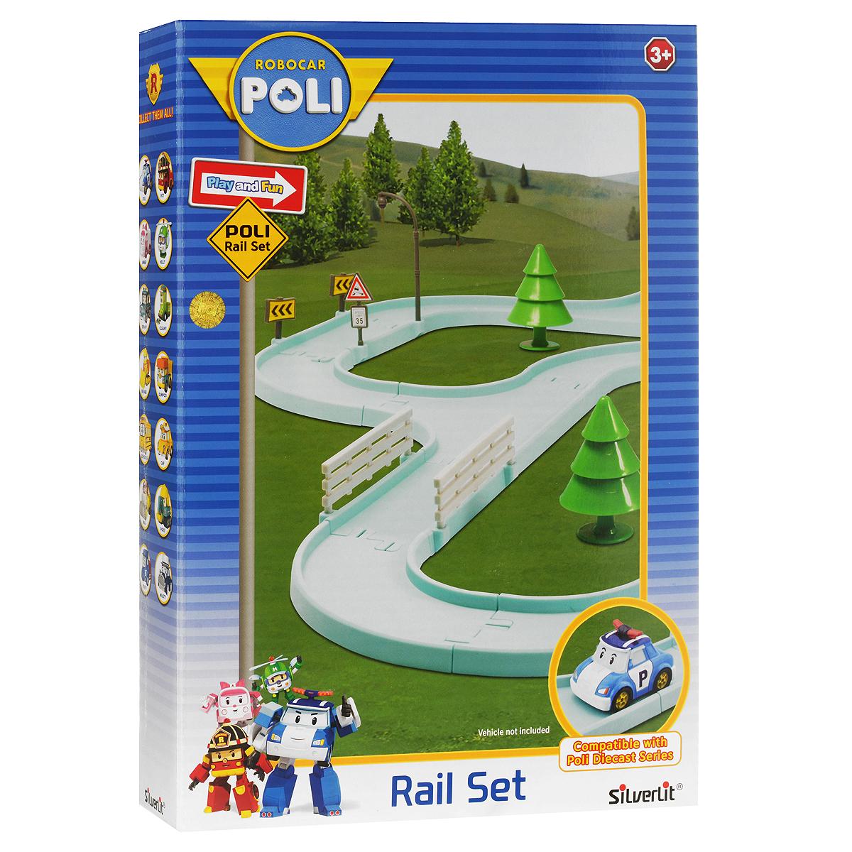 Robocar Poli Игровой набор Большой гоночный трек для металлических машинок 83250