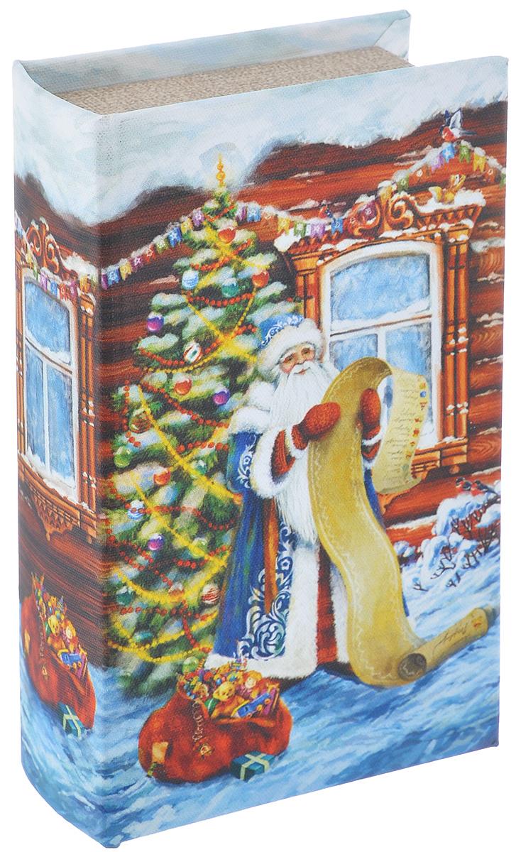 Шкатулка декоративная Феникс-презент Дед Мороз со списком, 17 см х 11 см х 5 см38473Декоративная шкатулка Феникс-презент Дед Мороз со списком, выполненная из МДФ, не оставит равнодушным ни одного любителя красивых вещей. Изделие украшено оригинальным рисунком и закрывается на магнит. Такая шкатулка может использоваться для хранения бижутерии, в качестве украшения интерьера, а также послужит хорошим подарком для человека, ценящего практичные и оригинальные вещи.