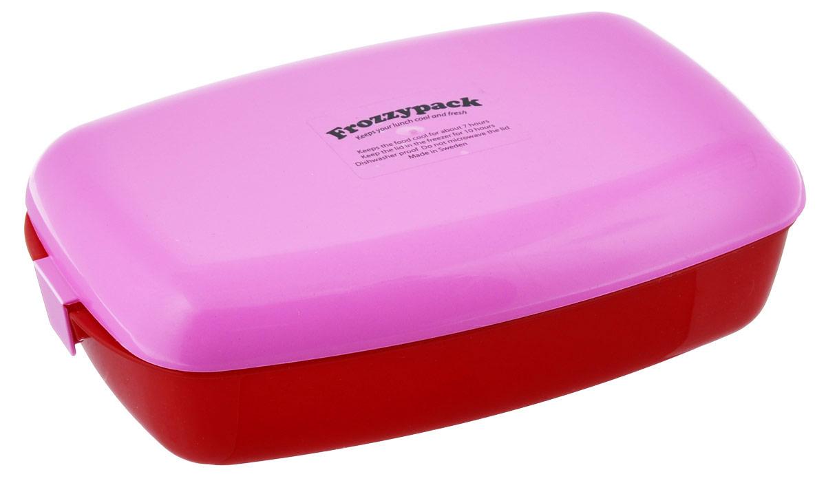Контейнер Frozzypack, с охлаждающим элементом, цвет: красный, розовый, 1,2 л35003Контейнер Frozzypack выполнен из высококачественного пищевого пластика и не содержит BPA, PFOA и парабенов. В крышке контейнера расположен охлаждающий элемент, который поможет сохранить вашу еду прохладной в течение 7 часов при комнатной температуре. Для поддержания низкой температуры в контейнере, крышку необходимо предварительно охладить в морозильной камере в течение 10 часов. Можно мыть при температуре до 100°С и замораживать до -40°С. Подходит для посудомоечной машины. Не использовать крышку в микроволновой печи. Размер контейнера: 24,5 см х 15,5 см. Высота стенок контейнера: 5 см.