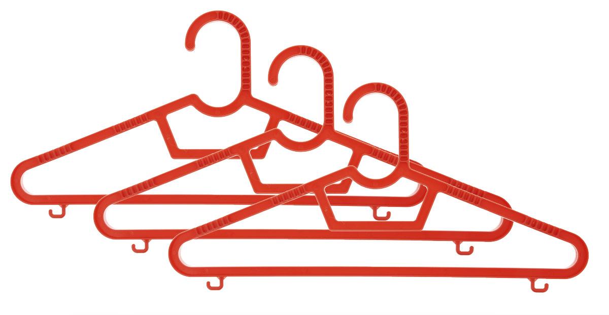 Набор вешалок Полимербыт, цвет: красный, размер 40-42, 3 штПБ 236_красныйНабор вешалок Полимербыт выполнен из пластика. Изделия оснащены перекладинами и крючками. Вешалка - это незаменимая вещь для того, чтобы ваша одежда всегда оставалась в хорошем состоянии. Комплектация: 3 шт. Размер одежды: 40-42.