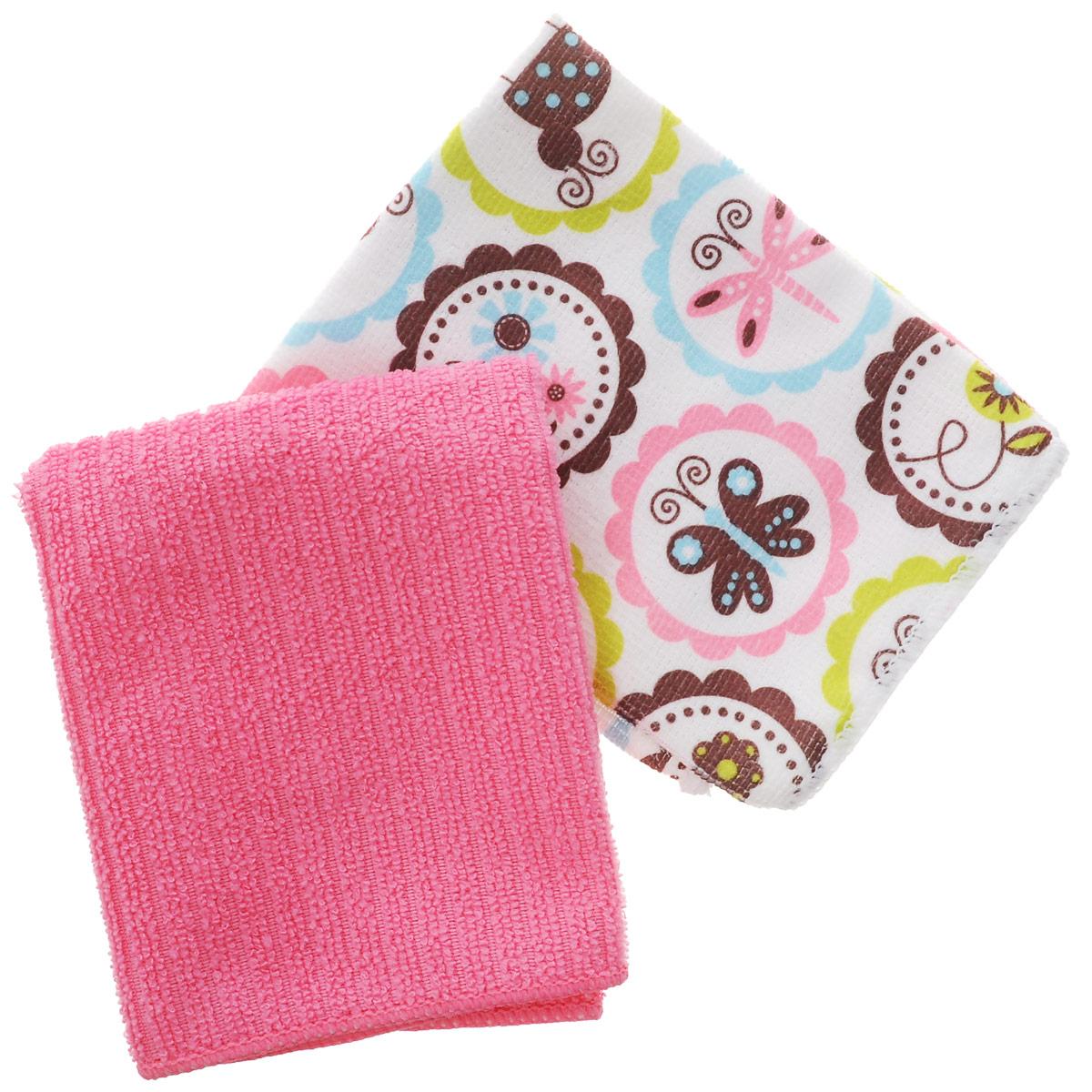 Набор полотенец Bon Appetit Бабочки, цвет: розовый, белый, 30 см х 30 см, 2 штVT-1520(SR)Набор полотенец Bon Appetit Бабочки, изготовленный из 100% микрофибры, идеален для рук. Этот нанотехлогочный материал, отлично впитывает воду, сохраняет яркие краски и внешний вид после многочисленных стирок. Качество материала гарантирует безопасность не только взрослых, но и самых маленьких членов семьи. Изделие украшено оригинальным и ярким рисунком, оно впишется в интерьер любой кухни.Кухонные полотенца Bon Appetit идеально дополнят интерьер вашей кухни и создадут атмосферу уюта и комфорта.Размер полотенца: 30 см х 30 см.Комплектность: 2 шт.