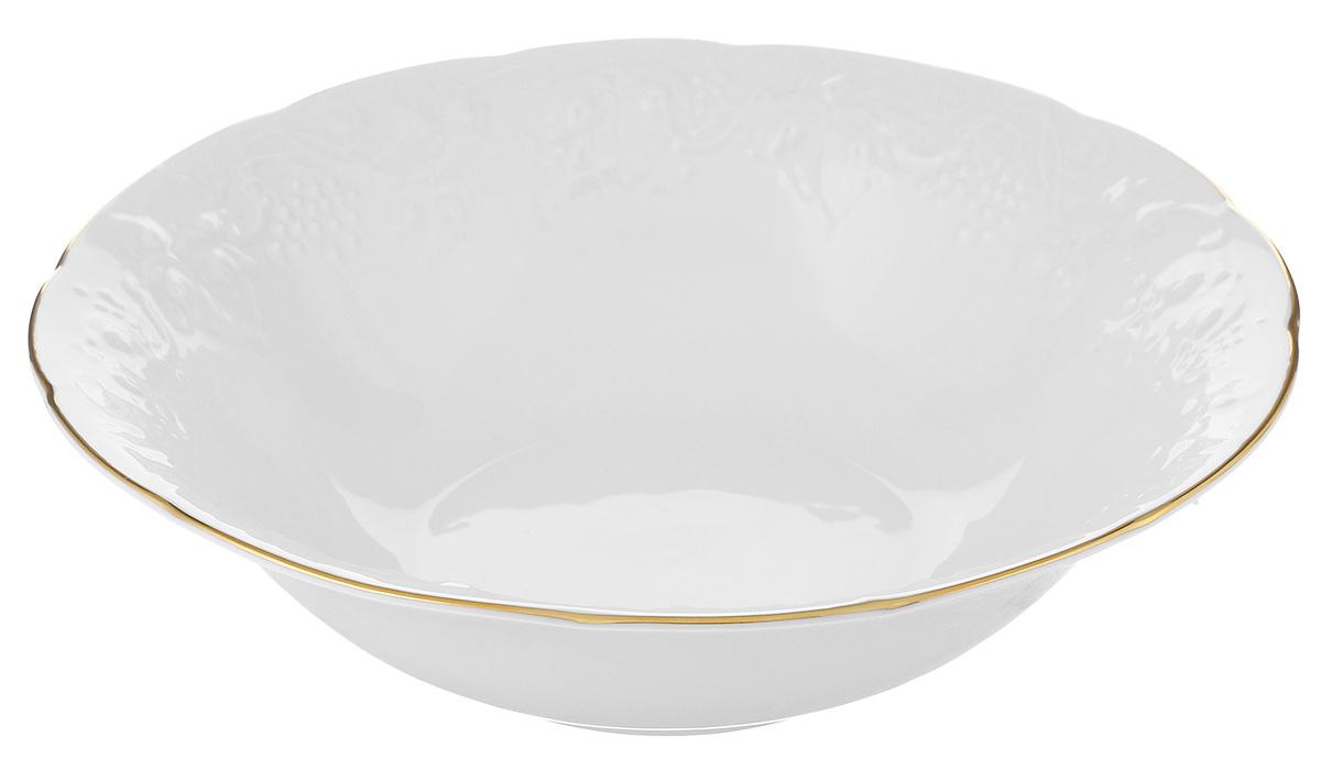 Салатник La Rose Des Sables Vendanges, цвет: белый, серебристый, диаметр 25 см6 916 250 019Салатник La Rose Des Sables Vendanges, выполненный из высококачественного фарфора, декорирован рельефным изображением цветов. Салатник сочетает в себе изысканный дизайн с максимальной функциональностью. Салатник La Rose Des Sables Vendanges идеально подойдет для сервировки стола и станет отличным подарком к любому празднику. Не рекомендуется использовать в посудомоечной машине и микроволновой печи. Диаметр салатника (по верхнему краю): 25 см. Высота стенки: 7 см.
