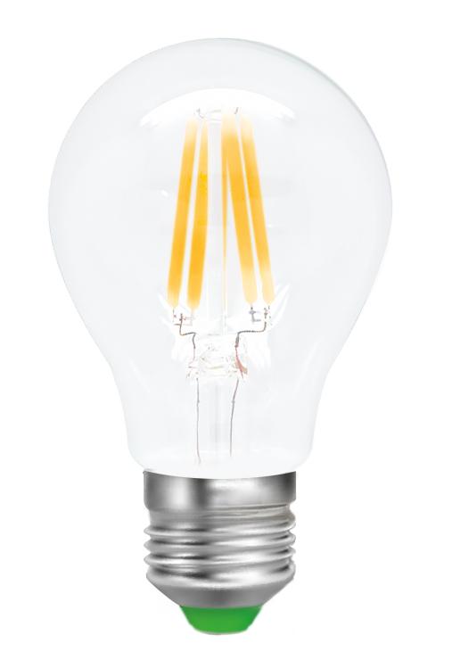 Лампа светодиодная Smartbuy Filament, А60, теплый свет, цоколь Е27, 8 ВтC0027371Светодиодная лампа Smartbuy Filament - новинка на рынке светодиодных ламп! Светодиодная лампа A60 Filament - энергосберегающая лампа для общего и декоративного освещения, подходит для замены стандартных ламп накаливания и галогенных. Колба лампы прозрачная, грушевидной формы. В лампе использован совершенно иной светодиод, он выглядит как нить накаливания, от чего и получил название Filament. Лампа идеально подходит к любому светильнику, в котором используются данные типы ламп. Хорошо будет смотреться даже в открытых светильниках. Особенности: - Угол рассеивания светового пучка 360 градусов. - Хорошая цветопередача. - Отсутствие мерцания обеспечивает меньшую утомляемость глаз. - Высокоэффективный драйвер обеспечивает стабильную работу. - Большой срок службы - 30 000 часов работы. - Широкий рабочий температурный режим от -25° до +45°С. - Не содержит ртуть, экологически безопасна. - Не нагревается даже за целый день, но при этом имеет высокую светоотдачу. Тип колбы: А60. Индекс цветопередачи: RA>80. Частота: 50 Гц. Напряжение: 220-240 В. Коэффициент мощности: 0,06.