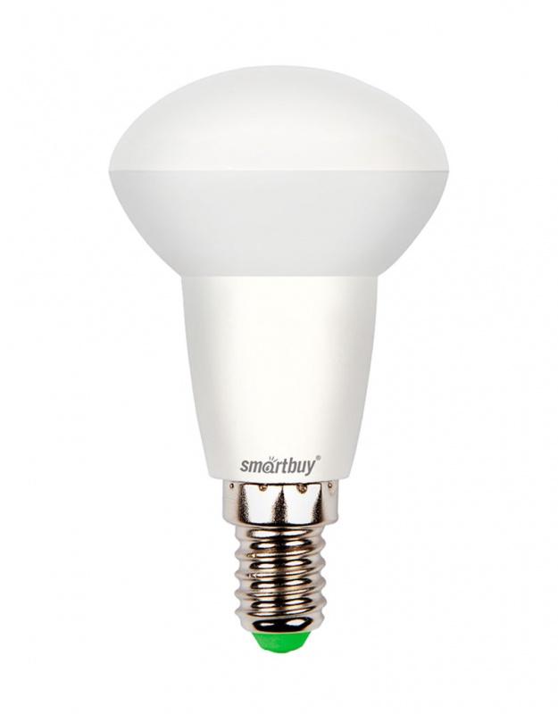 Лампа светодиодная Smartbuy, R50, холодный свет, цоколь Е14, 6 ВтC0027363Светодиодная лампа Smartbuy - энергосберегающая лампа, которая создает уникальное яркое освещение при помощи встраиваемых светильников. Матовая поверхность лампы обеспечивает равномерную освещенность. Лампа R50 повторяет форму и размеры стандартных рефлекторных ламп R50 с цоколем Е14 миньон, она подходит к стандартным встраиваемым потолочным точечным светильникам R50. В светодиодных лампах серии R50 применяются высокоэффективные светодиоды, что обеспечивает высокую надежность и эффективность источников света до 80 лм/ Вт. При этом коэффициент цветопередачи обеспечивается на уровне Ra>80. Особенности: - Хорошая цветопередача. - Угол освещения: 180°. - Отсутствие мерцания обеспечивает меньшую утомляемость глаз. - Высокоэффективный драйвер обеспечивает стабильную работу. - Устойчивость к механическому воздействию. - Большой срок службы - 30 000 часов работы. - Широкий рабочий температурный режим от -25° до +45°С. - Не содержит ртуть, экологически безопасна. Тип колбы: R50. Индекс цветопередачи: RA>80. Частота: 50 Гц. Напряжение: 220-240 В. Коэффициент мощности: 0,06.