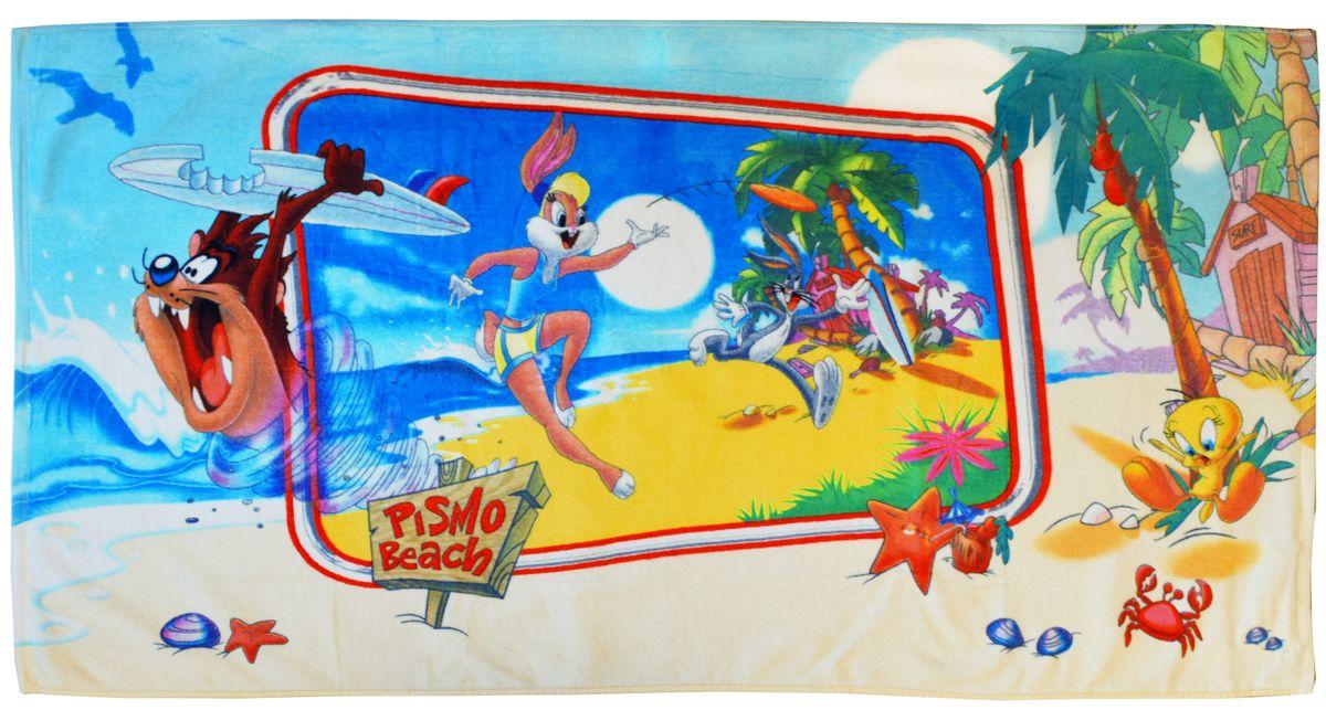 Мульткарнавал Полотенце Таз и Лола на Гаваях, махровое, 70 см х 140 см