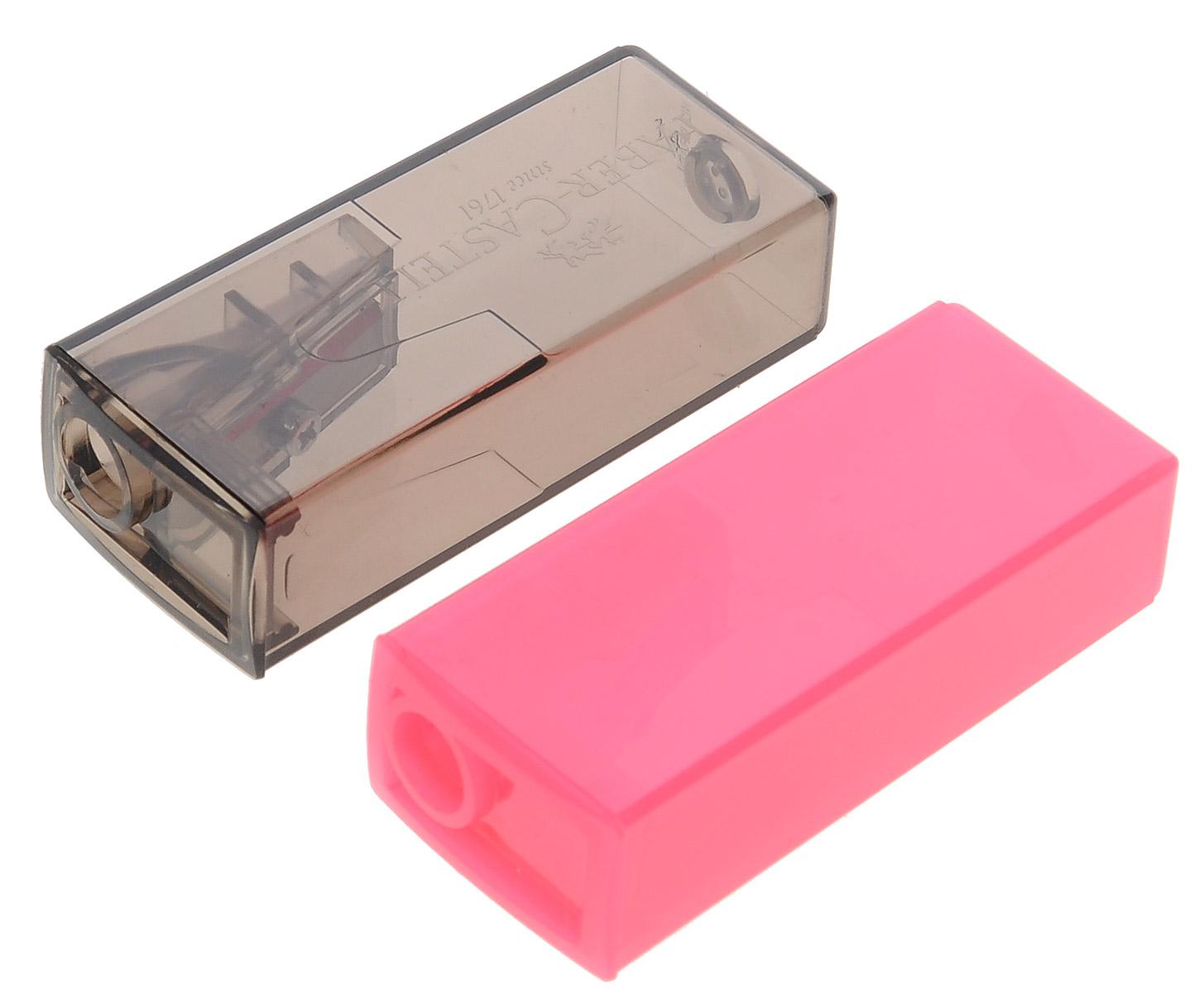Faber-Castell Точилка флуоресцентная цвет розовый серый 2 шт263332_розовый, серыйТочилки Faber-Castell предназначены для затачивания карандашей диаметром 8 мм. Полупрозрачные контейнеры позволяют визуально определить уровень заполнения и вовремя произвести очистку. Острые стальные лезвия обеспечивают высококачественную и точную заточку деревянных карандашей. В комплекте две точилки разных цветов.