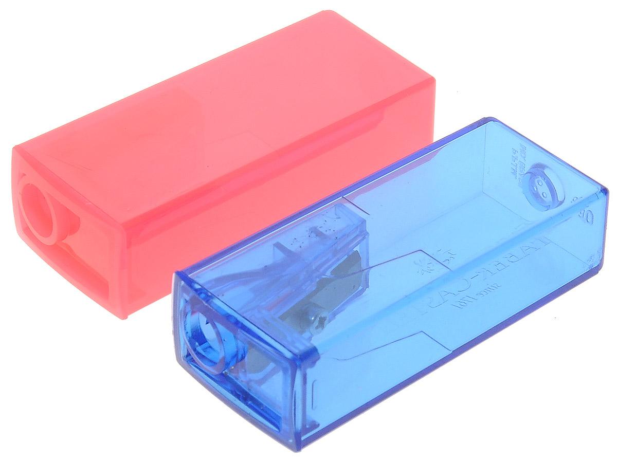 Faber-Castell Точилка флуоресцентная цвет синий розовый 2 шт263332_синий, розовыйТочилки Faber-Castell предназначены для затачивания карандашей диаметром 8 мм. Полупрозрачные контейнеры позволяют визуально определить уровень заполнения и вовремя произвести очистку. Острые стальные лезвия обеспечивают высококачественную и точную заточку деревянных карандашей. В комплекте две точилки разных цветов.
