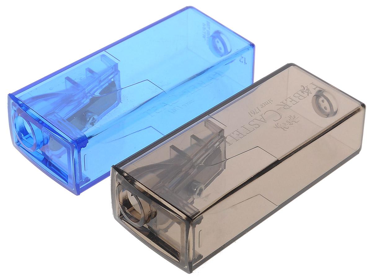 Faber-Castell Точилка флуоресцентная цвет серый синий 2 шт72523WDТочилки Faber-Castell предназначены для затачивания карандашей диаметром 8 мм. Полупрозрачные контейнеры позволяют визуально определить уровень заполнения и вовремя произвести очистку. Острые стальные лезвия обеспечивают высококачественную и точную заточку деревянных карандашей. В комплекте две точилки разных цветов.