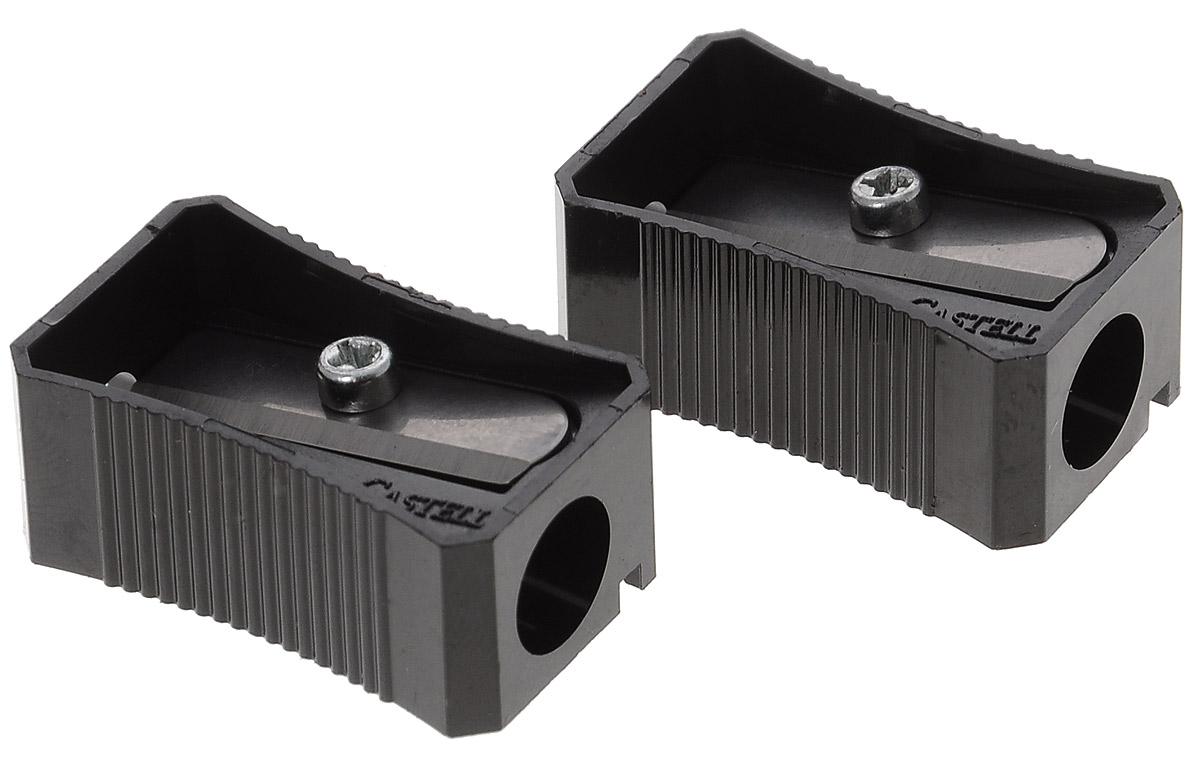 Faber-Castell Точилка цвет черный 2 шт263221Набор точилок Faber-Castell предназначен для затачивания классических простых и цветных карандашей. В наборе две точилки из прочного черного пластика с рифленой областью захвата. Острые стальные лезвия обеспечивают высококачественную и точную заточку деревянных карандашей.