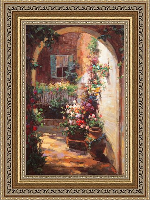 Цветочный свод (Vail Oxley), 17 х 22 см17x22 D1150-41709Художественная репродукция картины Vail Oxley Floral Archway. Размер постера: 17 см х 22 см Артикул: 17x22 D1150-41709.