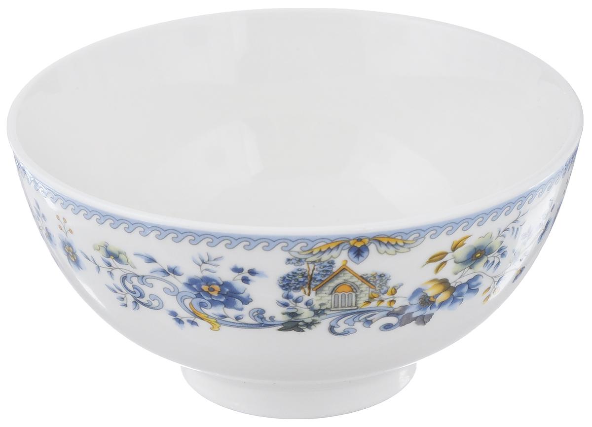 Салатница Nanshan Porcelain Пейзаж, цвет: белый, синий, желтый, диаметр 12,5 см115510Салатница Nanshan Porcelain Пейзаж изготовлена из фарфора. Посуда безопасна для здоровья и окружающей среды. Внешние стенки оформлены изящным узором. Такая салатница прекрасно подходит для подачи холодных и горячих блюд: каш, хлопьев, супов, салатов. Она дополнит коллекцию вашей кухонной посуды и будет служить долгие годы. Можно использовать в посудомоечной машине и СВЧ. Диаметр салатницы (по верхнему краю): 12,5 см. Высота стенки салатницы: 6 см.