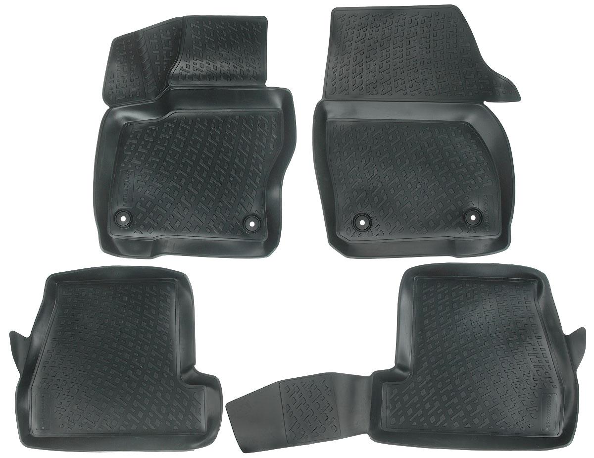 Набор автомобильных ковриков L.Locker Ford Focus (3) 2011, в салон седан и хэтчбек, 4 шт0202021001Набор L.Locker Ford Focus (3) 2011, изготовленный из полиуретана, состоит из 4 антискользящих 3D ковриков, которые производятся индивидуально для каждой модели автомобиля. Изделие точно повторяет геометрию пола автомобиля, имеет высокий борт, обладает повышенной износоустойчивостью, лишено резкого запаха и сохраняет свои потребительские свойства в широком диапазоне температур от -50°С до +50°С. Комплектация: 4 шт. Размер ковриков: 65 см х 52 см; 58 см х 50 см; 100 см х 49 см; 68 см х 54 см.