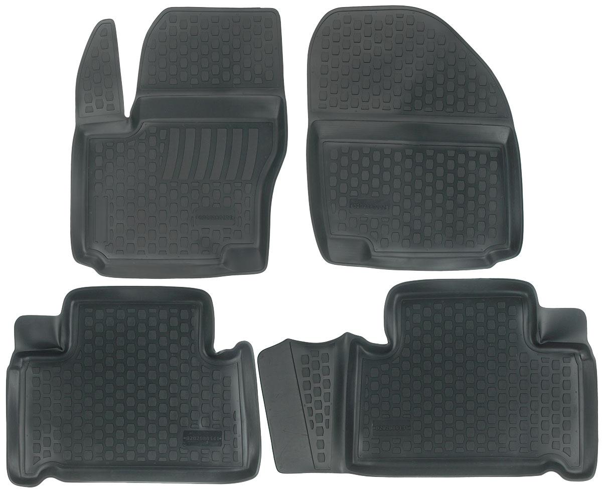 Набор автомобильных ковриков L.Locker Ford S-Max 2006, в салон, 4 шт0202080101Набор L.Locker Ford S-Max 2006, изготовленный из полиуретана, состоит из 4 ковриков, которые производятся индивидуально для каждой модели автомобиля. Изделие точно повторяет геометрию пола автомобиля, имеет высокий борт, обладает повышенной износоустойчивостью, лишено резкого запаха и сохраняет свои потребительские свойства в широком диапазоне температур от -50°С до +50°С. Комплектация: 4 шт. Размер ковриков: 68 см х 54 см; 64 см х 50 см; 68 см х 50 см; 66 см х 53 см.