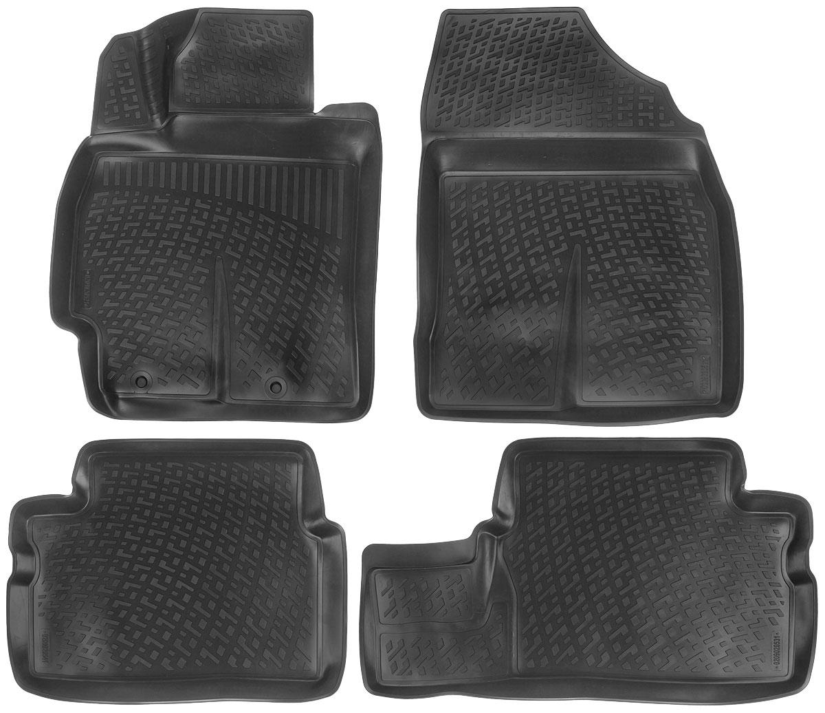 Набор автомобильных ковриков L.Locker Toyota Corolla/Auris 2007, в салон, 4 шт0209020501Набор L.Locker Toyota Corolla/Auris 2007, изготовленный из полиуретана, состоит из 4 антискользящих 3D ковриков, которые производятся индивидуально для каждой модели автомобиля. Изделие точно повторяет геометрию пола автомобиля, имеет высокий борт, обладает повышенной износоустойчивостью, лишено резкого запаха и сохраняет свои потребительские свойства в широком диапазоне температур от -50°С до +50°С. Набор подходит для автомобилей с 2007 года выпуска. Комплектация: 4 шт. Размер ковриков: 73 см х 58 см; 60 см х 46 см; 80 см х 46 см; 74 см х 57 см.