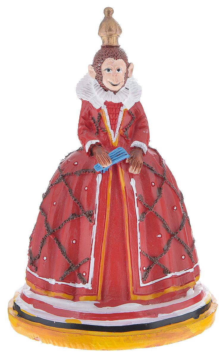 Фигурка декоративная Обезьяна-королева, высота 12 см38252Декоративная фигурка Обезьяна-королева станет оригинальным подарком для всех любителей стильных вещей. Сувенир выполнен из высококачественной полирезины в виде обезьяны в королевском платье. Изысканный сувенир станет прекрасным дополнением к интерьеру. Вы можете поставить фигурку в любом месте, где она будет удачно смотреться и радовать глаз.