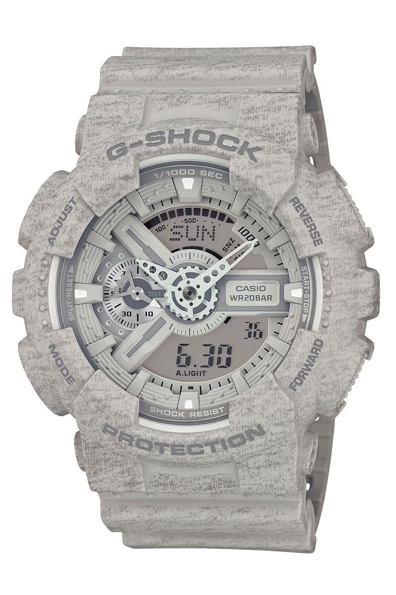 Часы наручные Casio, цвет: серый. GA-110HT-8AINT-06501Наручные часы Casio произведены опытными специалистами из материалов самого высокого качества на базе новейших технологий. Часы прошли тщательную проверку и контроль качества.Часы оснащены кварцевым механизмом. Корпус выполнен из полимерного материала. Дисплей часов защищен минеральным стеклом, устойчивым к появлению царапин и подсвечивается светодиодной автоматической супер-подсветкой. При движении руки дисплей освещается ярким светом. Ремешок часов выполнен из полимерного материала и оснащен застежкой-пряжкой. Часы имеют дополнительные функции: мировое время, индикатор даты, секундомер, таймер, будильник. Лимитированная серия. Ударопрочная конструкция защищает механизм от ударов и вибрации. Защищены от магнитных полей.Часы укомплектованы паспортом с подробной инструкцией и упакованы в оригинальную фирменную коробку.Характеристики: Длина ремешка (с учетом корпуса): 27 см.Ширина ремешка: 2,5 см.Диаметр корпуса: 5,5 см.Диаметр циферблата: 5 см. Дополнительные функции: Мировое время - 48 городов (29 часовых поясов), всемирное координированное время (UTC), функция включения/отключения летнего времени, секундомер с точностью показаний 1/1000с и временем измерения 100ч, измерение скорости, таймер обратного отсчета от 1мин до 24ч с автоповтором.