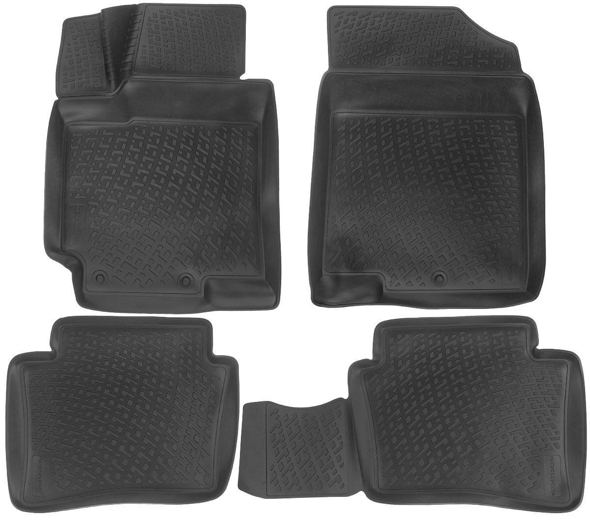 Набор автомобильных ковриков L.Locker Hyundai Accent IV 2010, в салон, 4 шт0204010401Набор L.Locker Hyundai Accent IV 2010, изготовленный из полиуретана, состоит из 4 антискользящих 3D ковриков, которые производятся индивидуально для каждой модели автомобиля. Изделие точно повторяет геометрию пола автомобиля, имеет высокий борт, обладает повышенной износоустойчивостью, лишено резкого запаха и сохраняет свои потребительские свойства в широком диапазоне температур от -50°С до +50°С. Комплектация: 4 шт. Размер ковриков: 75 см х 56 см; 84 см х 45 см; 56 см х 46 см; 73 см х 56 см.