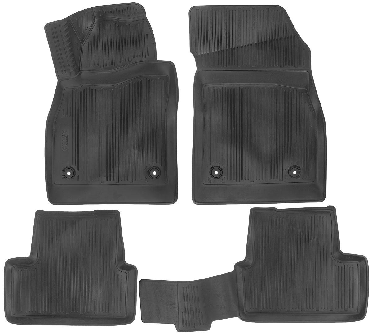 Набор автомобильных ковриков L.Locker Opel Astra J Hatchback 2009, в салон, 4 шт0211010101Набор L.Locker Opel Astra J Hatchback 2009, изготовленный из полиуретана, состоит из 4 антискользящих 3D ковриков, которые производятся индивидуально для каждой модели автомобиля. Изделие точно повторяет геометрию пола автомобиля, имеет высокий борт, обладает повышенной износоустойчивостью, лишено резкого запаха и сохраняет свои потребительские свойства в широком диапазоне температур от -50°С до +50°С. Комплектация: 4 шт. Размер ковриков: 80 см х 53 см; 53 см х 45,5 см; 93 см х 46 см; 81 см х 53 см.