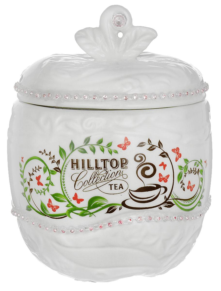 Hilltop Цейлонское утро черный листовой чай, 80 г (керамическая чайница Яблоко, новогодняя)0120710Hilltop Цейлонское утро - классический крупнолистовой черный чай с мягким ароматом и тонизирующими свойствами. Помимо этого великолепного чая, в комплекте вы найдете керамическую чайницу Яблоко, упакованную в яркую новогоднюю коробку. Вы сможете преподнести ее как подарок к праздникам для друзей и близких, или же порадовать себя изысканным чаем!