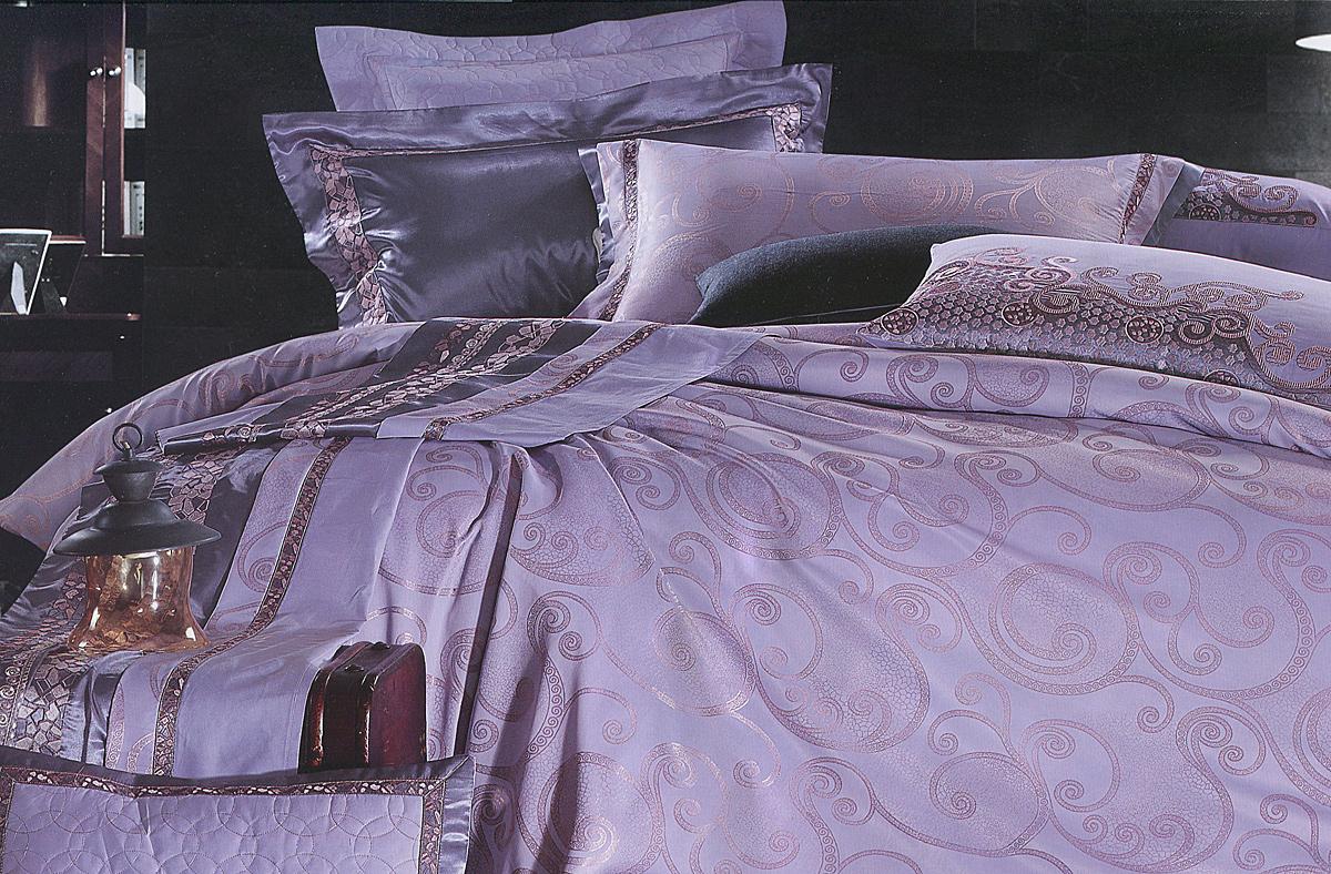Комплект белья Этель Прованс, 2-спальный, наволочки 50x70, цвет: сиреневый126073Комплект постельного белья Этель Прованс состоит из пододеяльника на молнии, простыни и двух наволочек. Удивительной красоты вышивка, нанесенная на белье, сочетает в себе нежность и теплоту. Постельное белье Этель Прованс создано для романтичных натур, которые любят изысканный дизайн. Белье изготовлено из 100% хлопка и тканного жаккарда отвечающего всем необходимым нормативным стандартам. Жаккард - это ткань фактурного плетения, в которой нити очень плотно переплетены и образуют узорчатый рельеф. Это очень практичный материал, неприхотливый в уходе, более долговечный, по сравнению с другими тканями, полученными одним из простых способов плетения. Приобретая комплект постельного белья Этель Прованс, вы можете быть уверенны в том, что покупка доставит вам и вашим близким удовольствие и подарит максимальный комфорт.