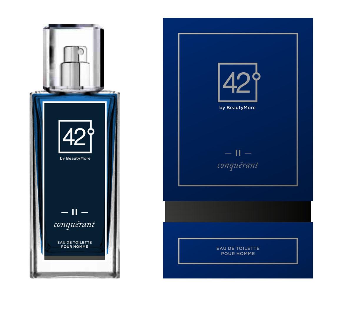 Fragrance 42 Туалетная вода для мужчин II Conquerant 100 мл42-96158Конкьюрант - аромат созданный для настоящих,решительных, мужчин,уверенных в себе и смело покоряющих любые цели. Этот аромат станет завершающей ноткой в вашем неотразимом образе. Верхняя нота-грейпфрут,мандарин,морские ноты нота сердца - лавровый лист,жасмин,базовые ноты - Гваяковое дерево,дубовый мох,пачули,серый янтарь