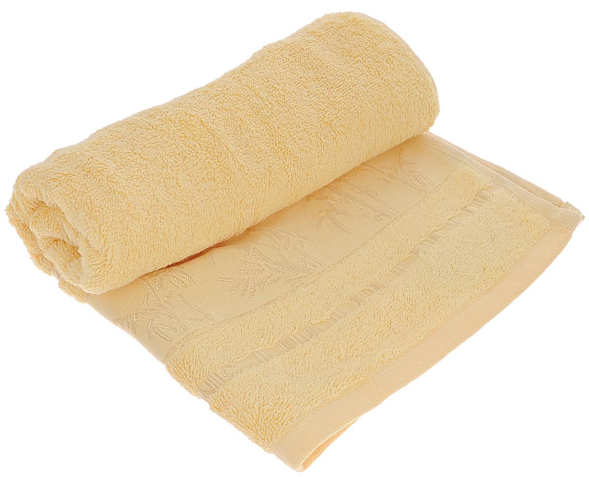 Полотенце Mariposa Bamboo, цвет: желтый, 50 х 90 см52925Полотенце Mariposa Bamboo, изготовленное из 60% бамбука и 40% хлопка, подарит массу положительных эмоций и приятных ощущений. Бамбук - инновация в текстильном производстве с потрясающими характеристиками. Бамбук - самый жизнеспособный природный ресурс, он растет без пестицидов и химикатов. Бамбуковое волокно с натуральным блеском мягче самого мягкого хлопка и по качеству напоминает шелк и кашемир. Ткань из бамбука обладает натуральными антимикробными свойствами и не нуждается в специальной химической обработке. Ткань содержит компонент Bamboo Kun, предотвращающий размножение бактерий. Полотенца из бамбука только издали похожи на обычные. На самом деле, при первом же прикосновении вы ощутите невероятную мягкость и шелковистость. Таким полотенцем не нужно вытираться - только коснитесь кожи - и ткань сама все впитает! Несмотря на богатую плотность и высокую петлю, оно быстро сохнет, остается легким даже при намокании. Полотенце оформлено изображением бамбука....