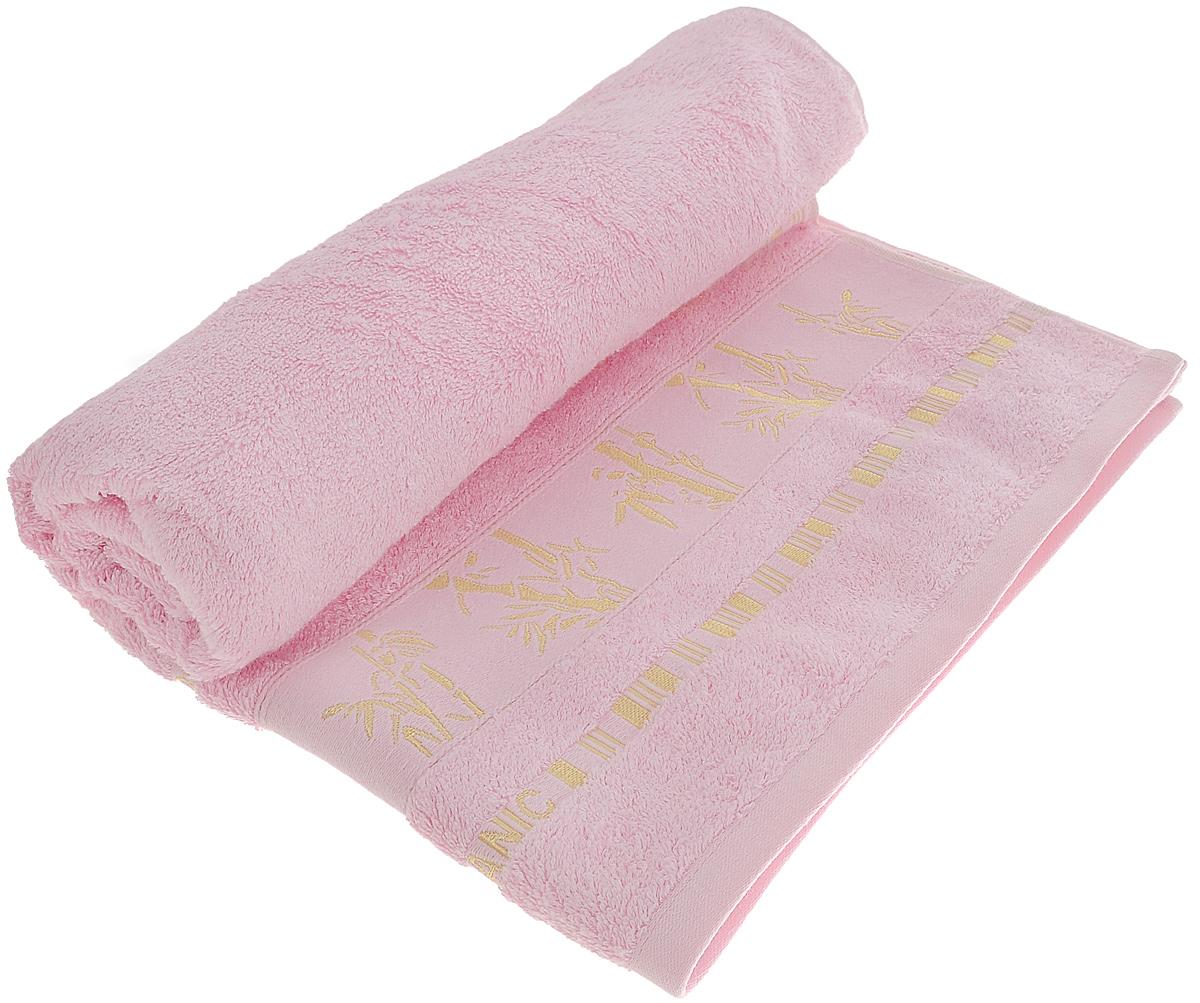 Полотенце Mariposa Bamboo, цвет: светло-розовый, 70 см х 140 см50842Полотенце Mariposa Bamboo, изготовленное из 60% бамбука и 40% хлопка, подарит массу положительных эмоций и приятных ощущений. Полотенца из бамбука только издали похожи на обычные. На самом деле, при первом же прикосновении вы ощутите невероятную мягкость и шелковистость. Таким полотенцем не нужно вытираться - только коснитесь кожи - и ткань сама все впитает! Несмотря на богатую плотность и высокую петлю полотенца, оно быстро сохнет, остается легким даже при намокании. Полотенце оформлено изображением бамбука. Благородный тон создает уют и подчеркивает лучшие качества махровой ткани. Полотенце Mariposa Bamboo станет достойным выбором для вас и приятным подарком для ваших близких.
