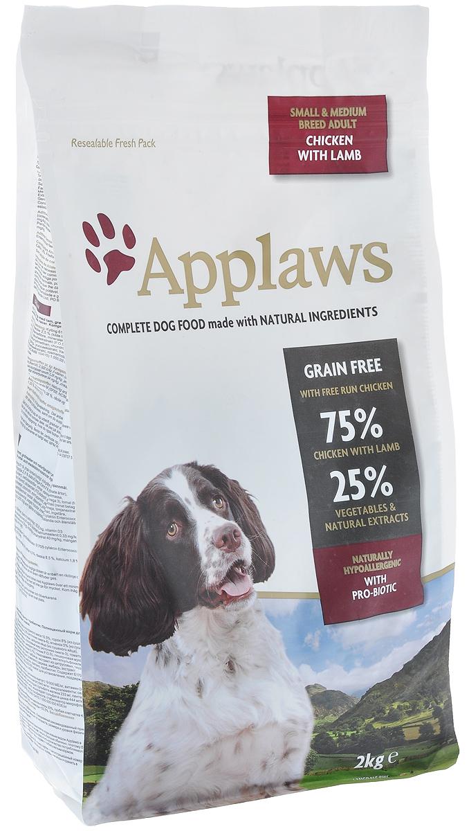 Беззерновой для Собак малых и средних пород Ягненок/Овощи: 75/25%(Dry Dog Lamb Small & Medium Breed Adult), 2 кг10301Беззерновая линейка Холистик кормов для собак Applaws изготовлена по особым рецептам, разработанными диетологами института Великобритании. Правильная диета очень важна для питомцев, ведь она меняется в зависимости от жизненного цикла. Также полнорационные корма должны включать в себя необходимое количество витаминов и минералов. В рецептах сухих кормов Applaws учтен не только перечень наиболее необходимых минералов и витаминов, но и их строгий баланс. Так как сухой корм изготавливается только из натуральных качественных ингредиентов, крокеты привлекут внимание любого, даже очень привередливого питомца. Состав: Дегидрированное мясо цыпленка (мин. 61%), мелкорубленное свежее филе цыпленка (мин. 10,5%), зеленый горошек 8%, картофель (мин. 6%), жир домашней птицы (мин. 2,5% - источник омега 6), свежее мясо ягненка 5%, свекла, подлива с мяса птицы приготовленной в собственном соку, яичный порошок, клетчатка, минералы, витамины, лососевый жир (источник Омега 3), томат,...