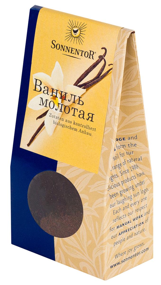 Sonnentor Ваниль молотая, 10 гNT360Sonnentor Ваниль - королева пряностей, особенно в кондитерских изделиях. Всем знаком тонкий, нежных и сладкий аромат белых кристалликов ванилина, но аромат настоящей ванили намного тоньше, невесомее и гораздо более стоек. Лучше всего добавлять ваниль в сладости: торты, пирожные, шоколад, муссы, желе, сладкие напитки, мороженное, а так же в некоторые мясные и рыбные блюда, соусы и подливы. Ваниль придает тонкий аромат компотам, чаям и настоям.