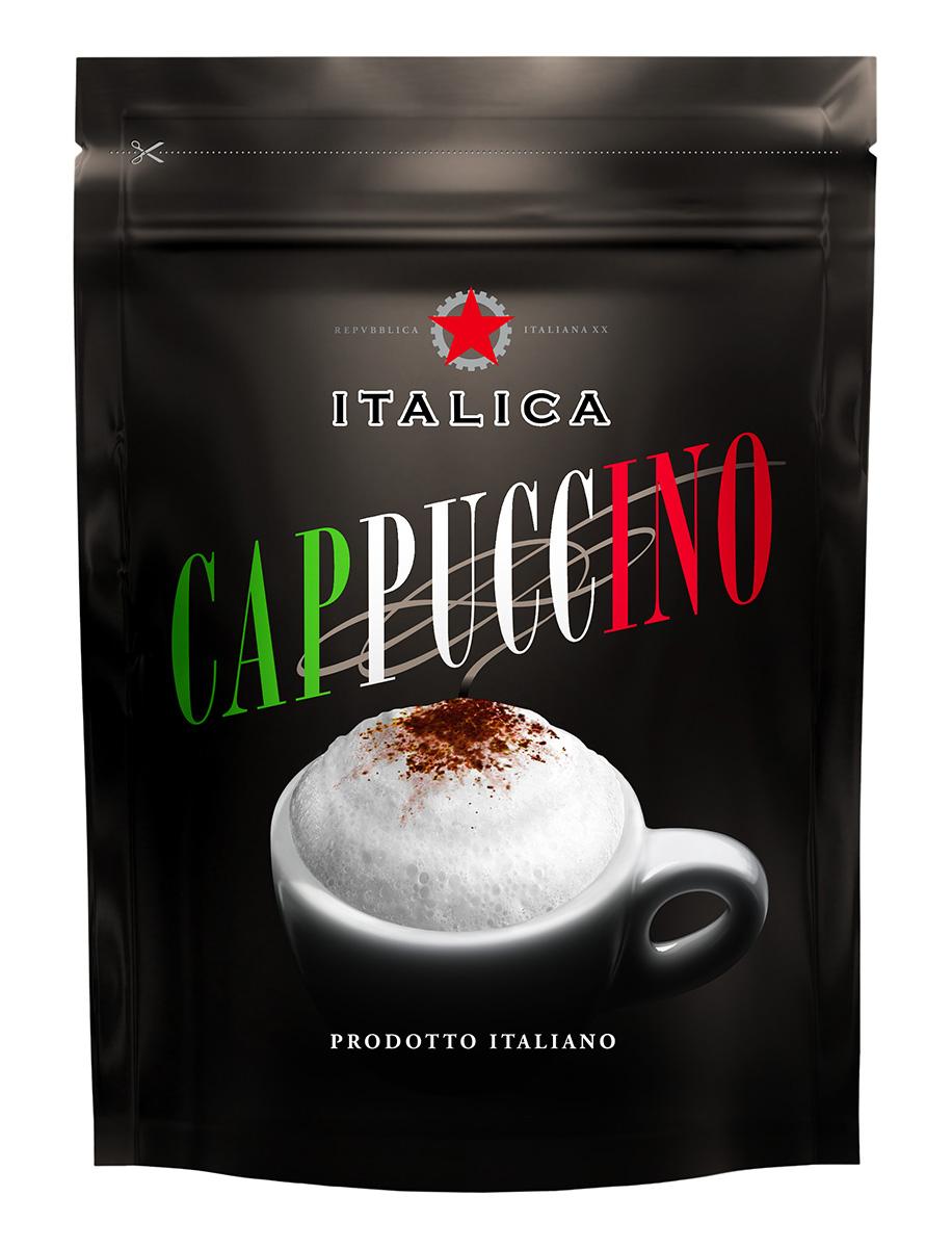 Italica Cappuccino кофейный напиток, 100 г0120710Italica Cappuccino — это превосходное сочетание французских сливок и зерен бразильской арабики, которое позволяет быстро приготовить итальянский капучино - нежный, ароматный, с красивой пенкой.
