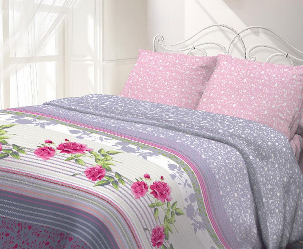 Комплект белья Гармония Виктория, 1,5-спальный, наволочки 70x70, цвет: розовый, белый, серыйS03301004Комплект постельного белья Гармония Виктория является экологически безопасным, так как выполнен из поплина (100% хлопка). Комплект состоит из пододеяльника, простыни и двух наволочек. Постельное белье оформлено красивым цветочным рисунком и имеет изысканный внешний вид.Постельное белье Гармония - лучший выбор для современной хозяйки! Его отличают демократичная цена и отличное качество.Гармония производится из поплина - 100% хлопковой ткани. Поплин мягкий и приятный на ощупь. Кроме того, эта ткань не требует особого ухода, легко стирается и прекрасно держит форму. Высококачественные красители, которые используются при производстве постельного белья, экологичны и сохраняют свой цвет даже после многочисленных стирок.Благодаря высокому качеству ткани и европейским стандартам пошива постельное белье Гармония будет радовать вас долгие годы!
