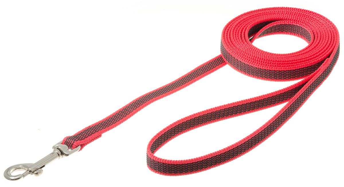 Поводок с карабином профессиональный с латексом 15мм*3м (красный) 73-257673-2576нейлон;латекс;стальной карабин