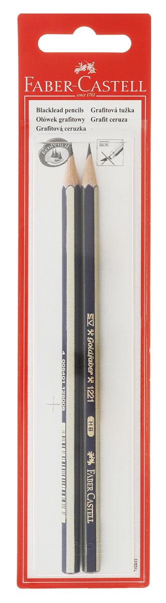 Faber-Castell Чернографитовый карандаш Goldfaber твердость HB 2 шт610842Чернографитовый карандаш Faber-Castell Goldfaber станет не только идеальным инструментом для письма, рисования или черчения, но и дополнит ваш имидж. Шестигранный корпус выполнен из натуральной древесины с сине-золотистым покрытием с надписями золотистого цвета. Высококачественный ударопрочный грифель не крошится и не ломается при заточке. Качественная мягкая древесина обеспечивает хорошее затачивание. Специальная SV технология вклеивания грифеля предотвращает его поломку при падении на пол. Карандаши покрыты лаком на водной основе в целях защиты окружающей среды. Степень твердости - HB. В комплект входят 2 графитовых карандаша.