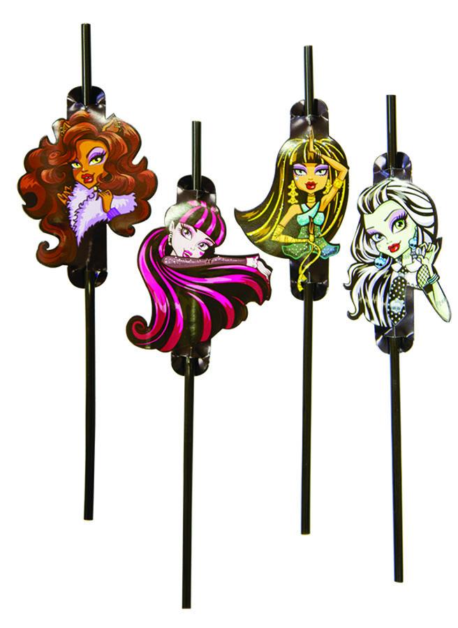Amscan Трубочка для коктейля Monster High 8 шт