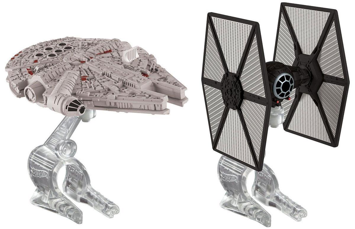 Hot Wheels Star Wars Звездные корабли Tie Fighter vs Millennium Falcon