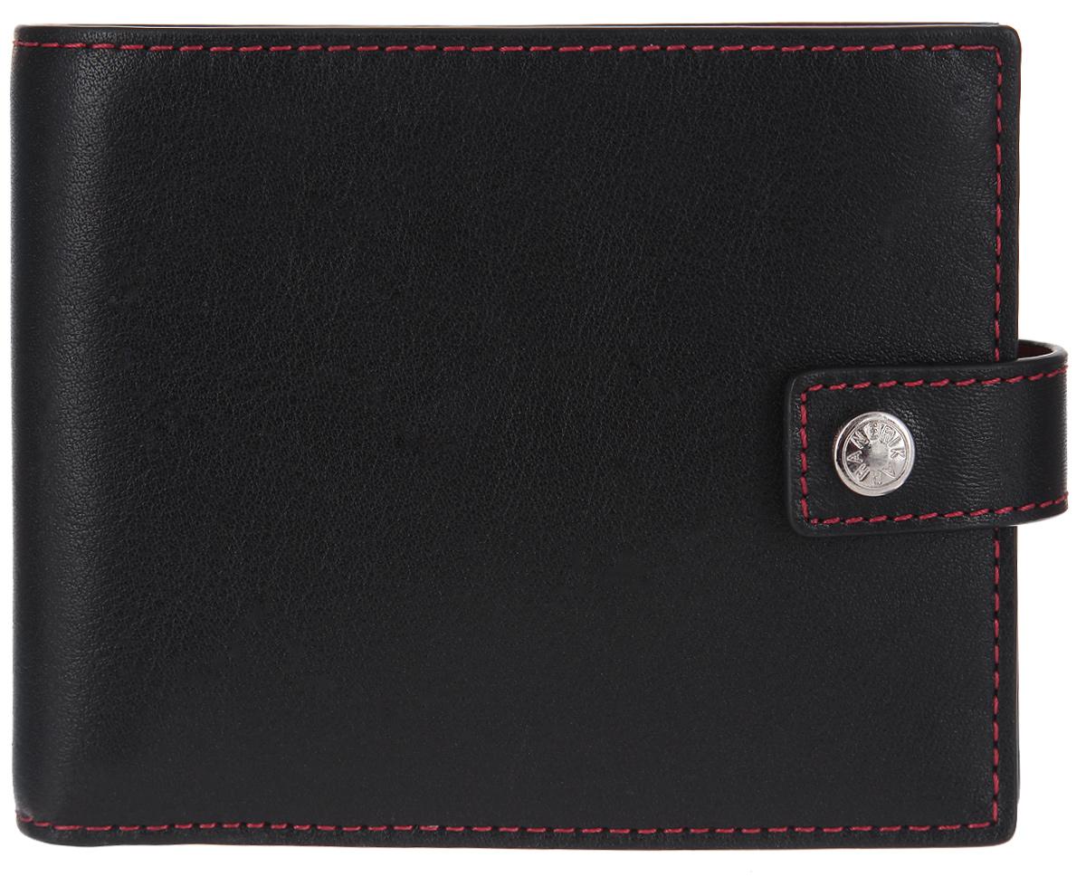Портмоне мужское Neri Karra, цвет: черный, красный. 0422 3-01.01/05RINT-06501Стильное мужское портмоне Neri Karra выполнено из натуральной кожи и оформлено металлической фурнитурой с символикой бренда. Внутренняя часть изделия выполнена из текстиля и натуральной кожи.Изделие раскладывается и закрывается хлястиком на кнопку. Внутри размещено два отделения для купюр, четыре кармашка для кредитных карт или визиток, три боковых кармана и карман для монет с клапаном на кнопке.Изделие поставляется в фирменной упаковке.Стильное портмоне Neri Karra станет отличным подарком для человека, ценящего качественные и практичные вещи.