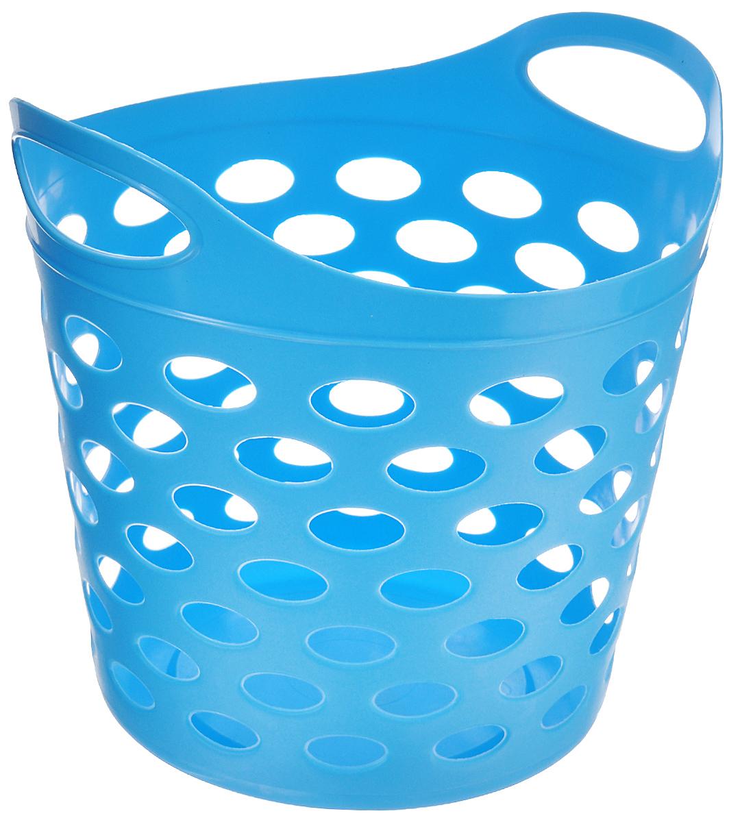 Корзина-сумка Gensini, универсальная, цвет: голубой, 13 л3312_голубойУниверсальная корзина-сумка Gensini отлично подойдет для хранения белья перед стиркой, игрушек и других вещей. Она выполнена из высококачественного мягкого пластика и оснащена двумя удобными ручками для переноски. Боковые стенки оформлены перфорацией, которая обеспечивает вентиляцию белья. Современный дизайн корзины-сумки позволит ей вписаться в любой интерьер, а благодаря своим компактным размерам она не займет много места.