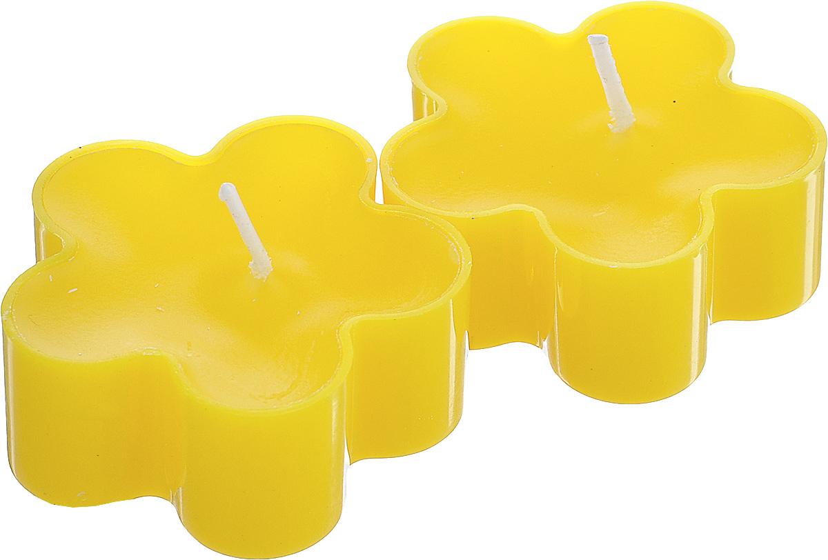 Набор декоративных свечей Lunten Ranta Цветик, цвет: желтый, 4,5 х 4,5 см, 2 шт67757_5Набор Lunten Ranta Цветик состоит из 2 декоративных свечей, изготовленных из парафина в пластиковых основах. Свечи в виде цветов украсят интерьер вашего дома или офиса и наполнят его атмосферу теплом и уютом. Размер свечи (по верхнему краю): 4,5 см х 4,5 см.
