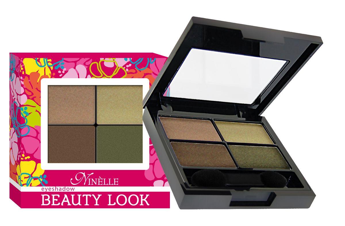 Ninelle Тени для век Beauty look, тон №673, 6 г тени ninelle тени для век beauty look марки ninelle 671