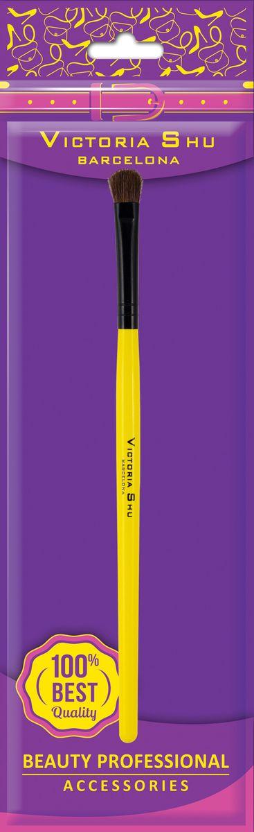 Victoria Shu Кисть для нанесения теней из натурального ворса B202, 11 г1052V15642Деликатная кисть из натурального ворса для идеальной растушевки теней для век. Мягкие и упругие ворсинки позволяют подчеркнуть веко, нанести более интенсивный цвет или создать красивую растушевку. Специальная округлая форма ворса кисти облегчает точное нанесение цвета. Ворс держит форму, подходит для всех видов теней.