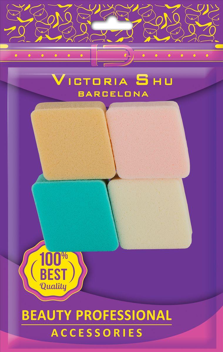 Victoria Shu Набор спонжей для пудры и тональной основы (4шт) S103, 18 г