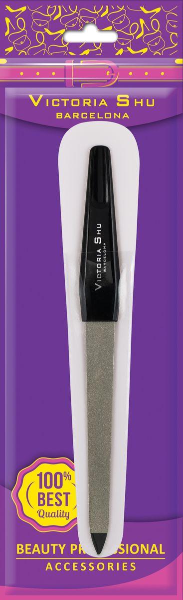 Victoria Shu Пилочка для ногтей из нержавеющей стали с сапфировым напылением F307, 14 г1072V15662Двусторонняя среднезернистая и мелкозернистая пилка (большая) придаст ногтям желаемую форму, обеспечивая аккуратное и чистое опиливание, а также удалить загрязнения под ногтями заостренным кончиком. Износостойкая поверхность пилки служит долго и легко моется. Пилка упакована в удобный футляр, так что вы можете всегда носить с собой.