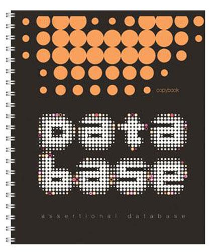 Полиграфика Тетрадь Database 96 листов в клетку цвет черный оранжевый37627_черный, оранжевый