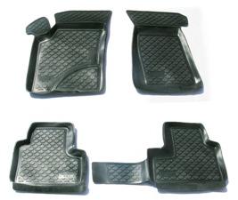 Коврики в салон автомобиля L.Locker, для Chevrolet Niva (02-), 4 штSC-FD421005Коврики L.Locker производятся индивидуально для каждой модели автомобиля из современного и экологически чистого материала. Изделия точно повторяют геометрию пола автомобиля, имеют высокий борт, обладают повышенной износоустойчивостью, антискользящими свойствами, лишены резкого запаха и сохраняют свои потребительские свойства в широком диапазоне температур (от -50°С до +80°С). Рисунок ковриков специально спроектирован для уменьшения скольжения ног водителя и имеет достаточную глубину, препятствующую свободному перемещению жидкости и грязи на поверхности. Одновременно с этим рисунок не создает дискомфорта при вождении автомобиля. Водительский ковер с предустановленными креплениями фиксируется на штатные места в полу салона автомобиля. Новая технология системы креплений герметична, не дает влаге и грязи проникать внутрь через крепеж на обшивку пола.